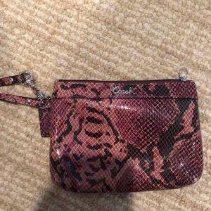 Coach patterned wristlet/wallet